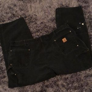 Carhartt black loose carpenter jeansWork condition